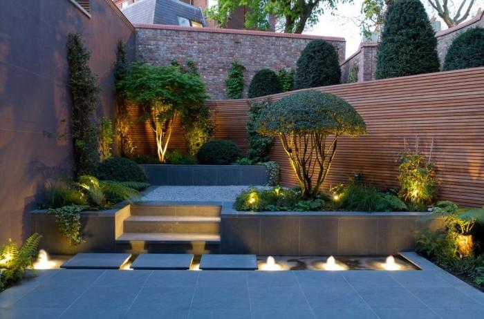 Современные примеры правильного обустройства и освещения садового участка.