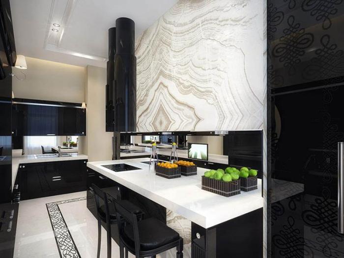 Две цветовые противоположности способны сочетаться во множестве различных вариантов, создавая уникальные интерьеры для современного кухонного пространства.
