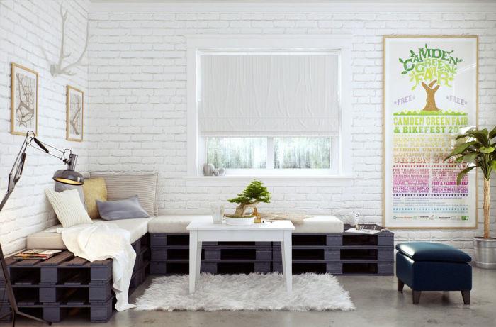В зависимости от стиля интерьера гостиной комнаты и выбранной цветовой гаммы, может подойти как натуральный цвет древесины, так и окрашенный.