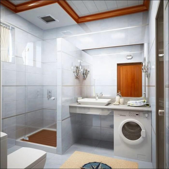 Современный интерьер ванной комнаты, в котором каждая деталь продуманно до мелочей