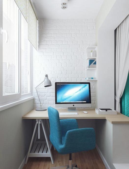 Все чаще жильцы малогабаритных квартир предпочитают обустраивать на балконах личные кабинеты.