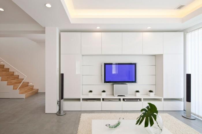 Необычная модульная система для гостиной комнаты, которая подчеркнёт домашний уют.