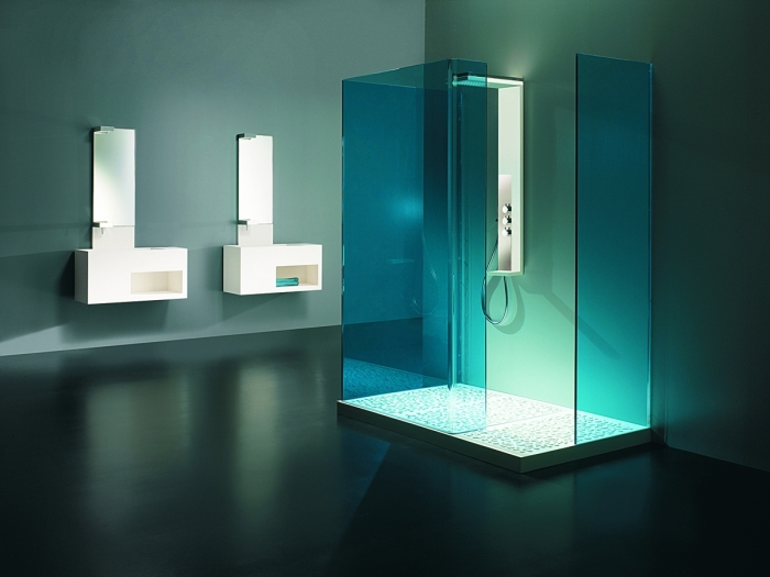 Ванная комната в стиле хай-тек позволит раскрасить повседневную рутину и придаст помещению индивидуальности.