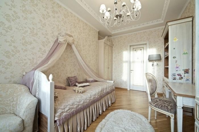 Элитная комната для девочек-подростков в стиле минимализма.