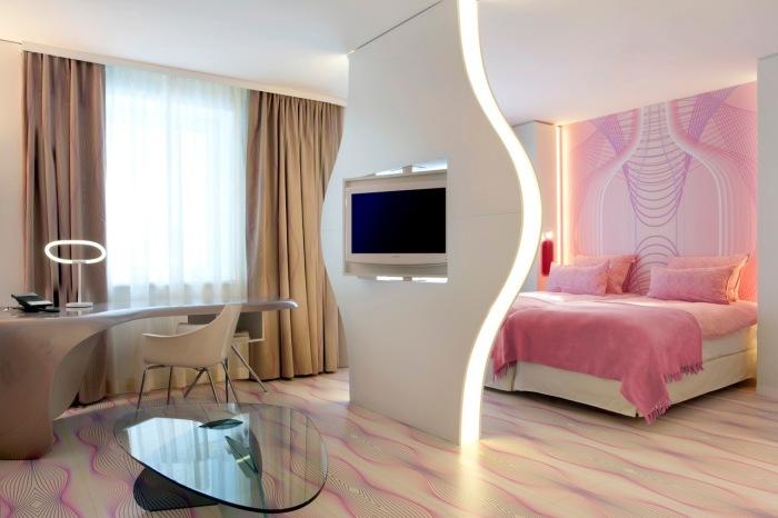 Привлекательные идеи для оформления современной спальной комнаты.
