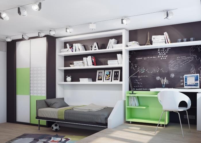 Интересный вариант для оформления подростковой комнаты.