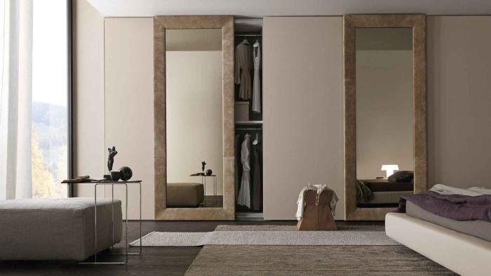 Оригинальная конструкция шкафа, которую нельзя отличить от стены.