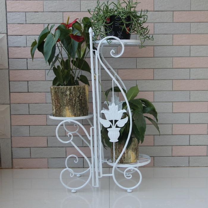 Подставка для цветов белая