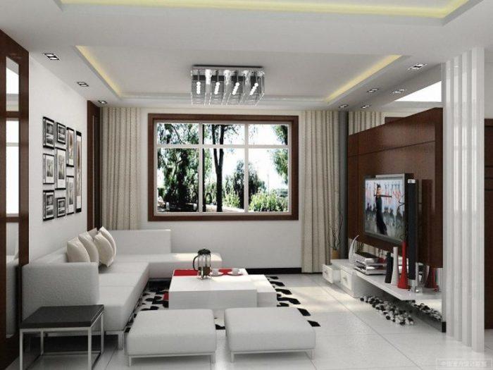 Светлая палитра визуально увеличит даже самую маленькую гостиную комнату.