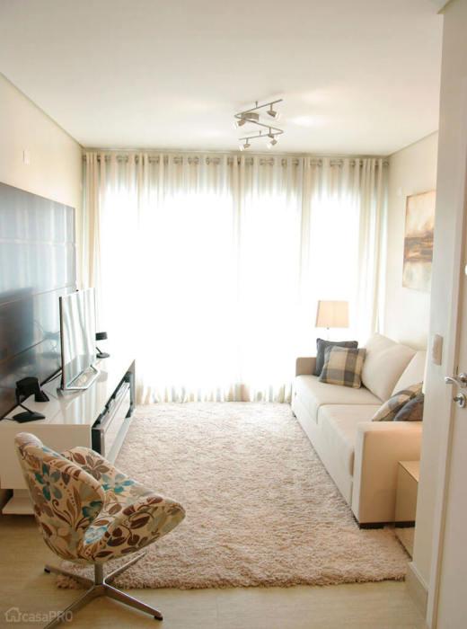 Гостиная комната в стиле минимализм - отличное решение для любой малогабаритной квартиры.