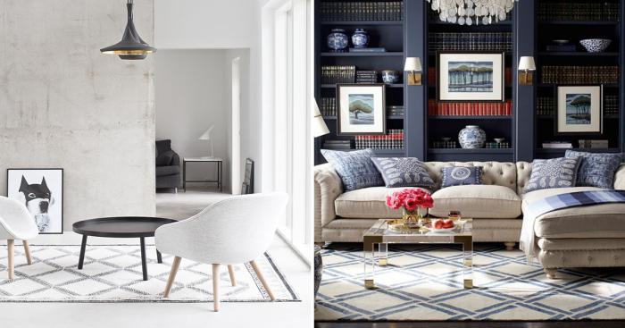 Современные гостиные комнаты, оформленные согласно последним тенденциям дизайна.
