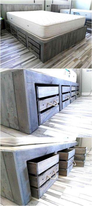 Вместительные выдвижные ящички под основание кровати.