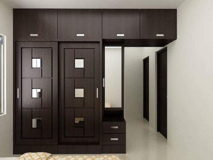 Отличный вариант мебельной стенки, которая позволит значительно сэкономить пространство.
