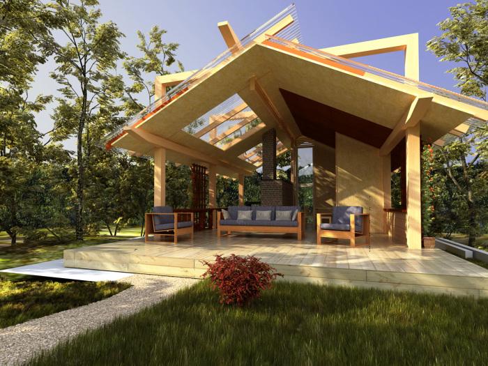 Место для отдыха по размерам напоминающее большой и просторный дом.