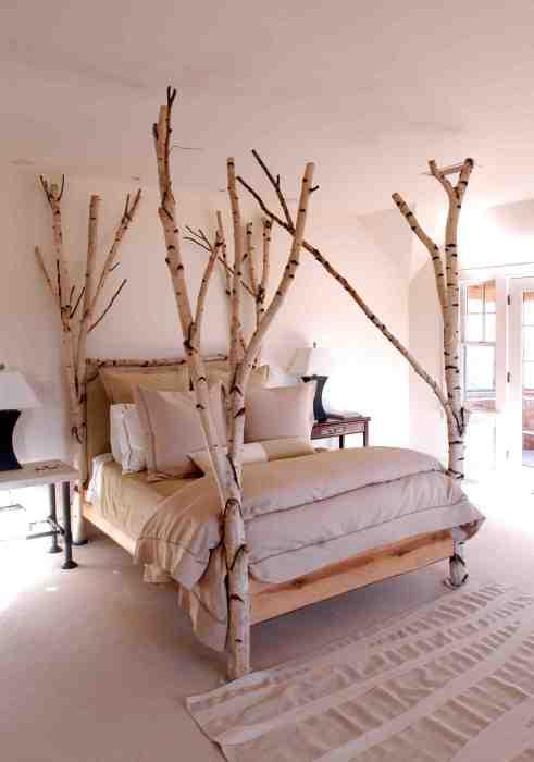 Берёза по праву считается самым декоративным деревом, которое можно использовать в интерьере.