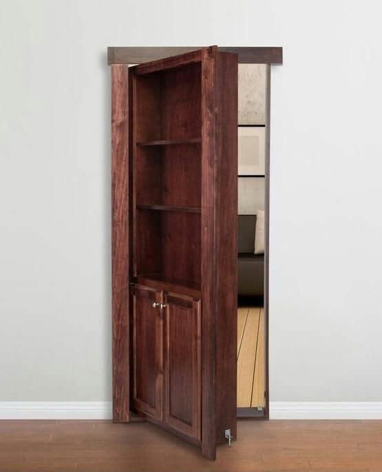 Потайная комната за обычным деревянным шкафом.