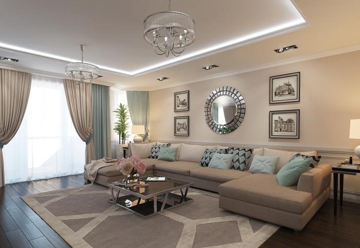 В современном дизайне гостиной комнаты большое внимание уделяется минималистскому направлению.