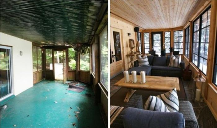 Ремонт веранды на дачном участке – это подготовка старого помещения для комфортного отдыха.