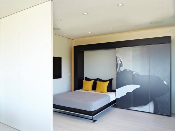 Эргономичная конструкция кровати позволит спрятать её в любой момент.