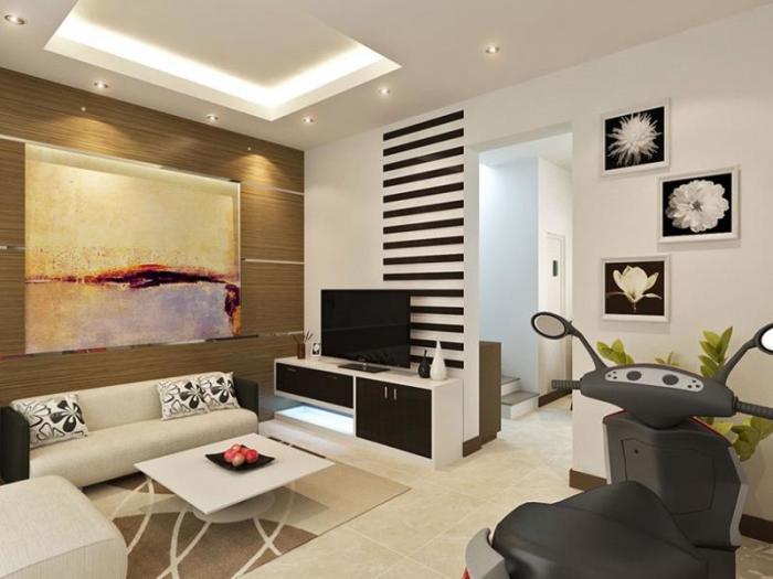 Даже небольшой яркий акцент может сделать гостиную комнату необычной.