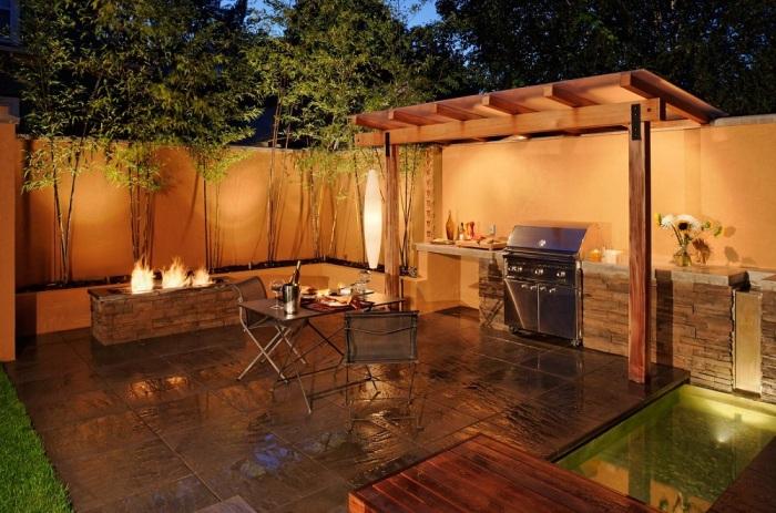 Открытая терраса с хорошим освещением может легко заменить кухню.