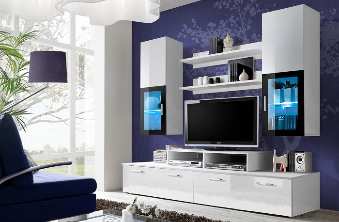 Великолепные примеры, как можно обустроить зону для просмотра телевизора.
