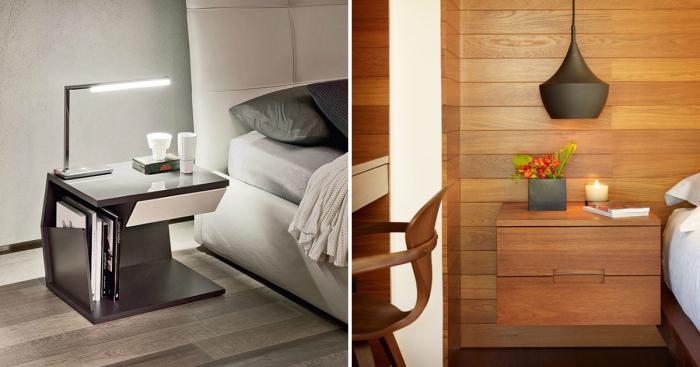 Великолепные идеи для создания прикроватных тумбочек, которые помогут преобразить спальную комнату.
