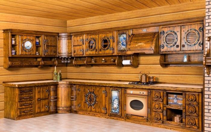 Стильные детали и натуральная древесина создают непревзойденный эффект.