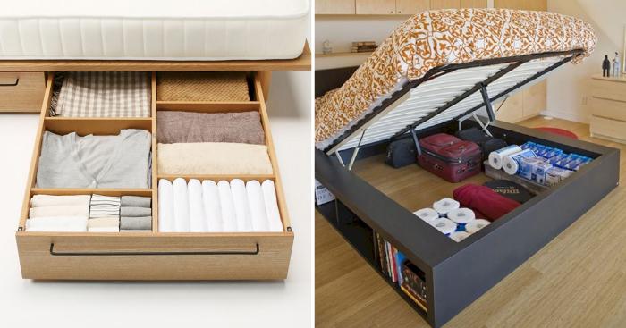 Креативные идеи, которые помогут организовать системы хранения в малогабаритных помещениях.