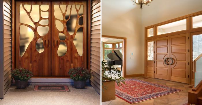 Стильное и надежные входные двери для загородного дома.