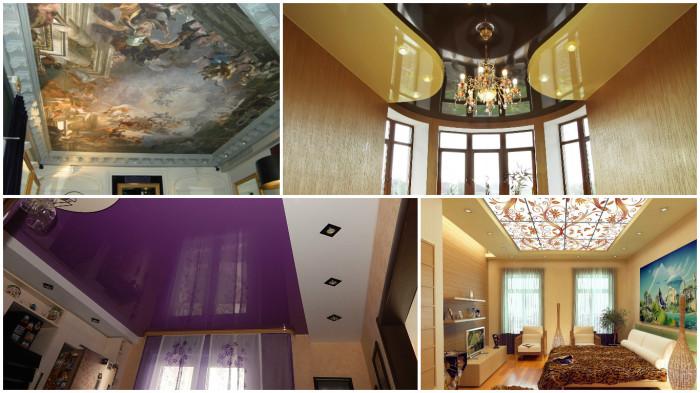 Необычные и яркие дизайнерские решения для оформления потолка.