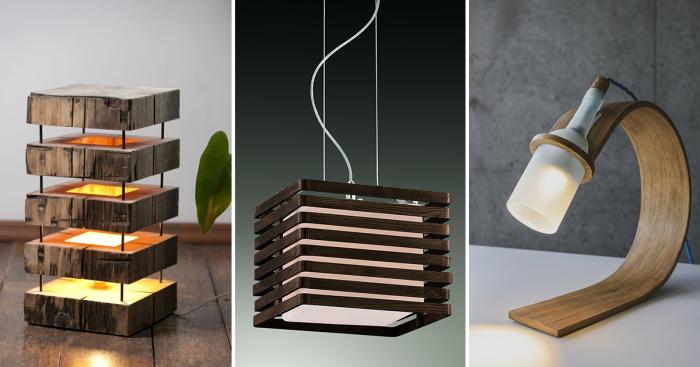 Деревянные светильники, которые сделают интерьер изысканным и уютным.