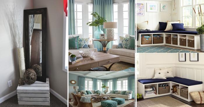 Практичные идеи, как оформить пустой угол в гостиной комнате