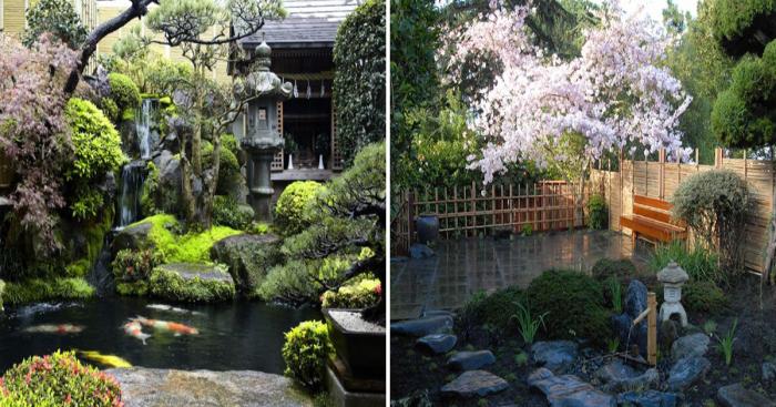 Садовые участки в восточном стиле.