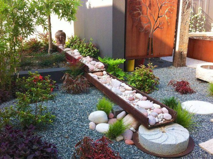 Уникальный ландшафтный дизайн в японском стиле с атмосферой гармонии и комфорта.