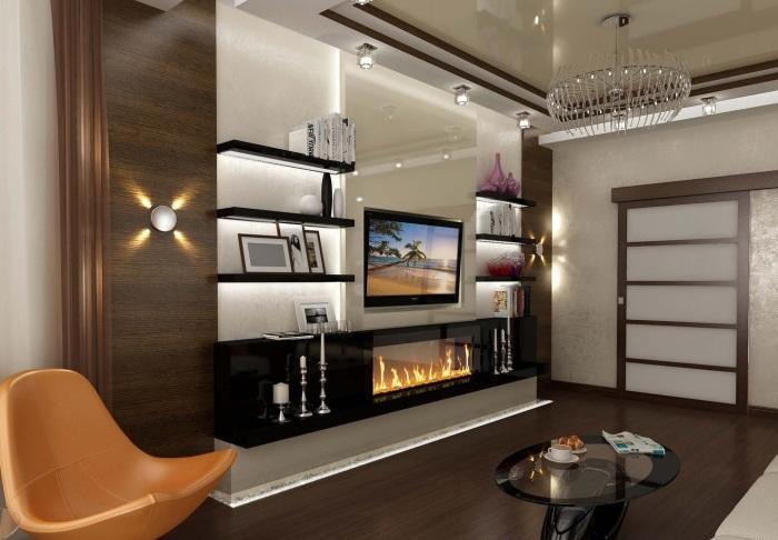 Восхитительные варианты по оформлению зоны для просмотра телевизора.