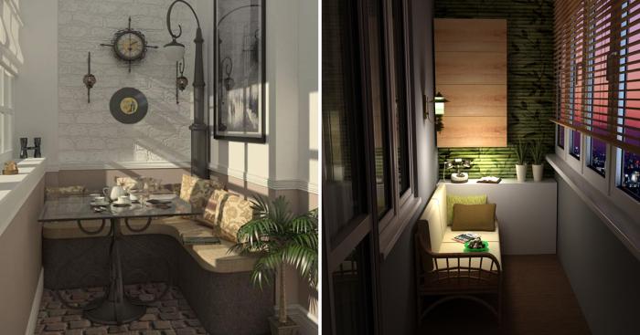 Восхитительные идеи для оформления стильных балконов и лоджий.