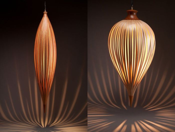 Дизайнерские светильники из дерева, которые можно изготовить своими руками.