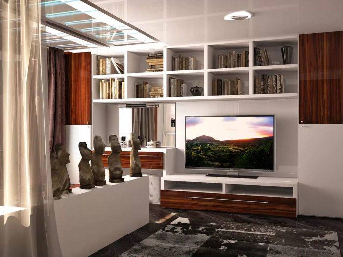 Даже в небольшой гостиной комнате можно разместить отличный домашний кинотеатр.