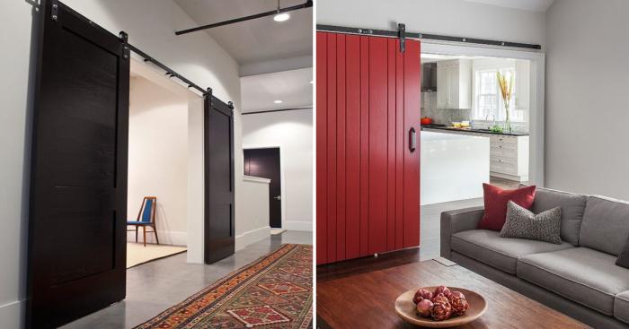 Инновационные примеры межкомнатных раздвижных дверей для малогабаритных квартир.