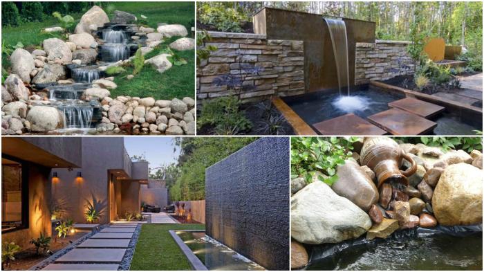 Идеи использования декоративных водопадов в ландшафтном дизайне.