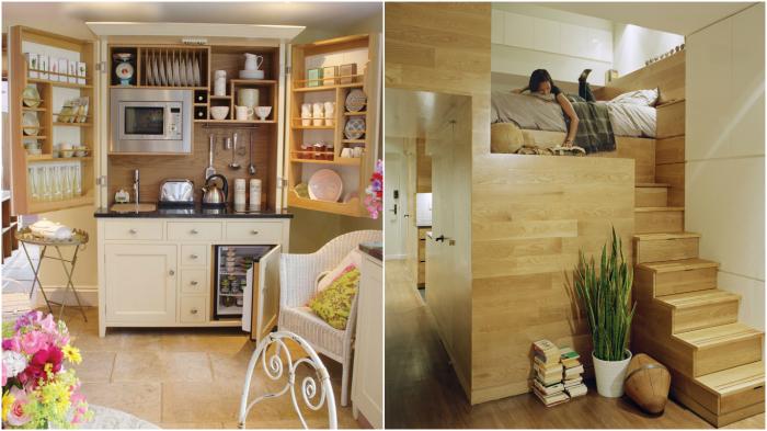 Оригинальные идеи экономии пространства в доме.