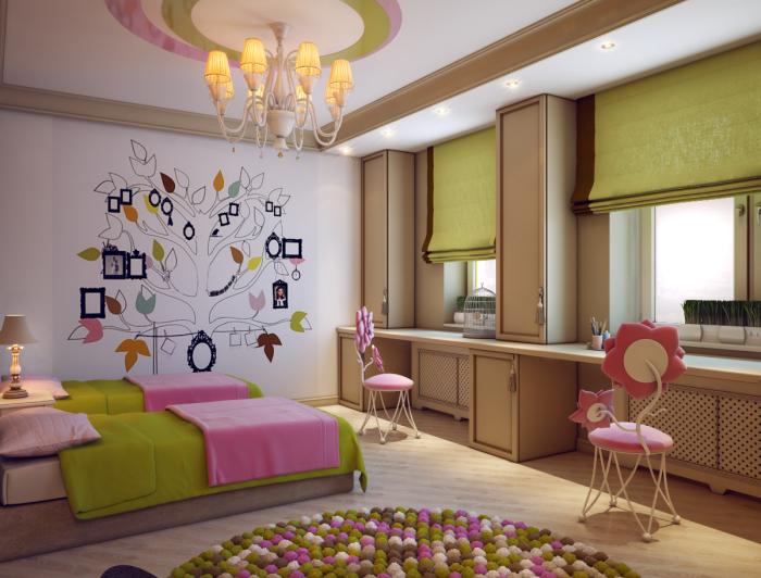 Детские комнаты для девочек - это одно удовольствие от дизайна и интерьера, где разрешаются самые мечтательные оттенки и цвета.