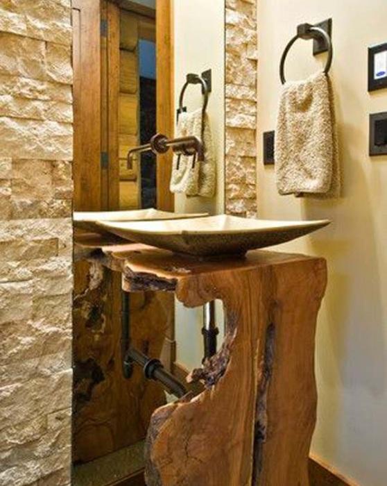 Деревянная столешница для ванной комнаты и кухни под раковину.