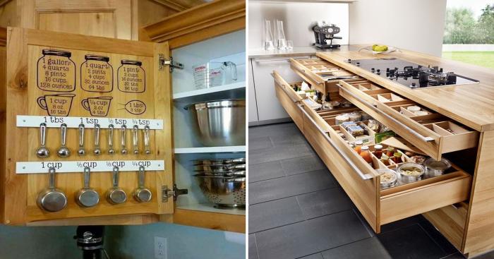 Восхитительные примеры организации пространства маленькой кухни.