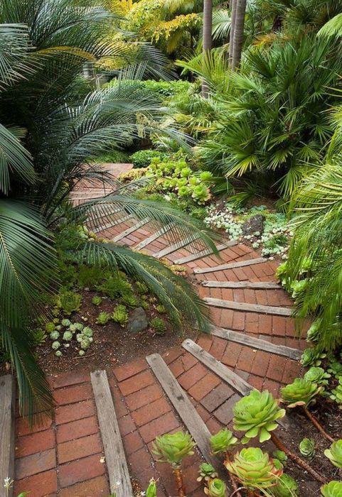 При грамотной организации садовая дорожка может исправить некоторые погрешности и недостатки в ландшафтном дизайне.