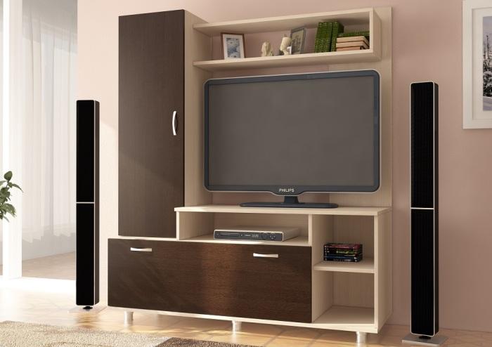 Модульная мебель для телевизора - удобное и функциональное решение для гостиной комнаты.