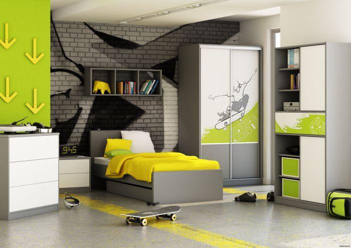 Оригинальное решение, которое поможет сделать дизайн подростковой комнаты функциональным и стильным.