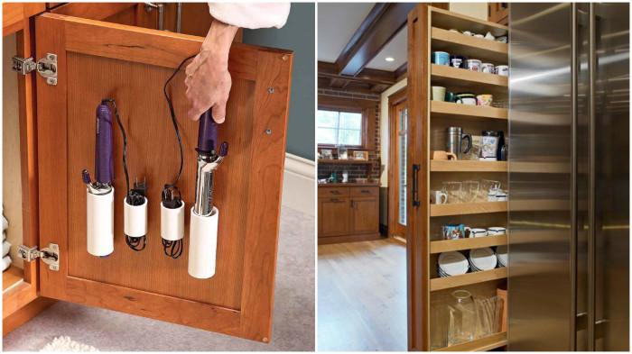 Оригинальные идеи разумного хранения вещей, которые помогут сэкономить драгоценное свободное пространство в квартире.