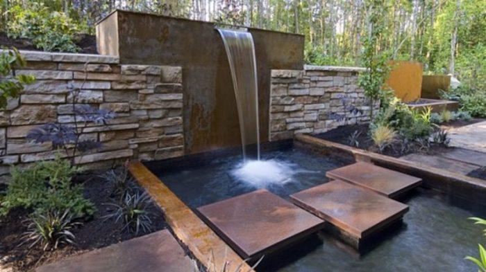 Водопад в ландшафтном дизайне.
